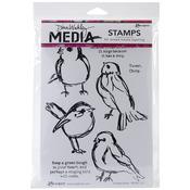 Scribbly Birds - Dina Wakley Media Cling Stamps