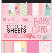 "Baby Girl Animals - MAMBI Specialty Cardstock Pad 12""X12"" 48/Pkg"