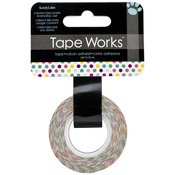 "Multicolor Dots - Tape Works Tape .625""X50'"
