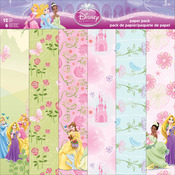 "Princess - Disney Paper Pack 12""X12"" 12 Sheets"