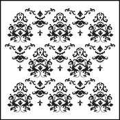 """Damask - Crafter's Workshop Template 12""""X12"""""""