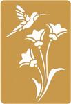 "Bird & Flower - Brass Embossing Stencil 3.25""X2.25"""