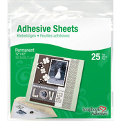"12""X12"" - Scrapbook Adhesives Permanent Adhesive Sheets 25/Pkg"
