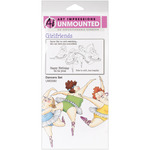 Dancers Set - Art Impressions Girlfriends Cling Rubber Stamps