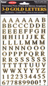 Uppercase & Lowercase - 3D Gold Letter Stickers