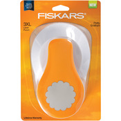 Pretty Scallops 3XL Lever Punch - Fiskars