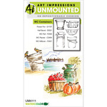 Containers - Art Impressions Watercolor Cling Rubber Stamps