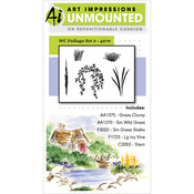Foliage Set 2 - Art Impressions Watercolor Cling Rubber Stamps