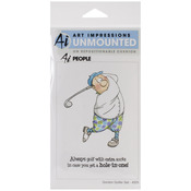 Gordon Golfer Set - Art Impressions People Cling Rubber Stamps