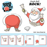 Santa Shake - Art Impressions Christmas Cling Rubber Stamp Set