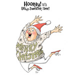 Ugly Sweater - Art Impressions Christmas Cling Rubber Stamp Set