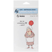 29 Again - Art Impressions People Cling Rubber Stamp