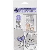 Cat & Dog - Art Impressions Front - N - Backs Cling Rubber Stamp