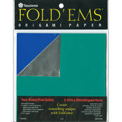 """Fold 'Ems Origami Two - Sided Foil/Solid Paper 5.875"""" 18/Pkg-"""