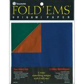 "Fold 'Ems Origami Two - Sided Foil Paper 5.875"" 18/Pkg-"