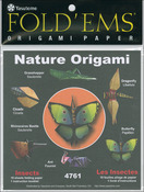 "Insects - Fold 'Ems Origami Paper 6""X6"" 18/Pkg"