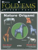"Zoo World - Fold 'Ems Origami Paper 6""X6"" 24/Pkg"