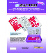 3 Cling Sheets + 3 Dividers - Zutter Cling & Clear Stamp Sheets 3/Pkg