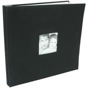 "Black - Fashion Fabric Post Bound Album 12""X12"""