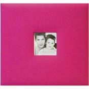 "Hot Pink - Fashion Fabric Post Bound Album 12""X12"""