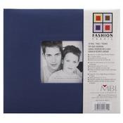 "Blue - Fashion Fabric Post Bound Album 8""X8"""