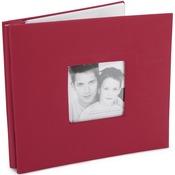 "Red - Fashion Fabric Post Bound Album 8""X8"""