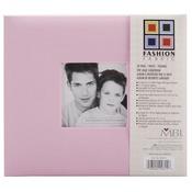 "Pink - Fashion Fabric Post Bound Album 8""X8"""