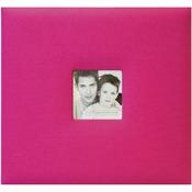 "Hot Pink - Fashion Fabric Post Bound Album 8""X8"""
