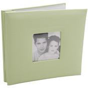 "Pastel Green - Fashion Fabric Post Bound Album 8""X8"""