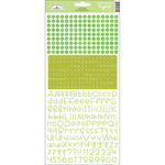 Limeade - Teensy Type Cardstock Alphabet Stickers