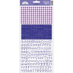Lilac - Teensy Type Cardstock Alphabet Stickers