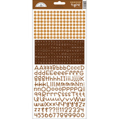 Bon Bon - Teensy Type Cardstock Alphabet Stickers