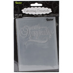 """With Sympathy - Embossing Folder 4.25""""X5.75"""""""