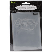 "With Sympathy - Embossing Folder 4.25""X5.75"""