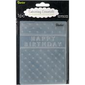"Happy Birthday - Embossing Folder 4.25""X5.75"""