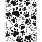 Paw Print Background - Embossing Folder
