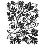 "Fall Leaf Background - Embossing Folder 4.25""X5.75"""
