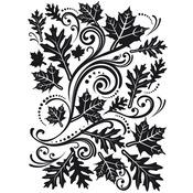 "Fall Leaf Background - Embossing Folder 4.25""X5.75"""
