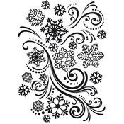"Snowflake Swirl - Embossing Folder 4.25""X5.75"""