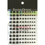Black - Bling Self-Adhesive Pearls Multi-Size 100/Pkg