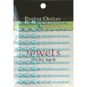 Blue - Bling Self-Adhesive Pearls Multi-Size 100/Pkg