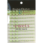 Green - Bling Self-Adhesive Pearls Multi-Size 100/Pkg