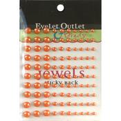 Orange - Bling Self-Adhesive Pearls Multi-Size 100/Pkg