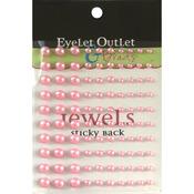 Pink - Bling Self-Adhesive Pearls Multi-Size 100/Pkg