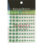 Green - Bling Self-Adhesive Jewels Multi-Size 100/Pkg