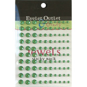 Green - Bling Self-Adhesive Jewels Multi-Size 100/Pkg