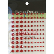 Red - Bling Self-Adhesive Jewels Multi-Size 100/Pkg