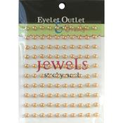 Light Brown Bling Self - Adhesive Pearls 5mm