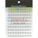 Silver - Bling Self-Adhesive Pearls 5mm 100/Pkg