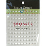 White - Bling Self-Adhesive Pearls 5mm 100/Pkg